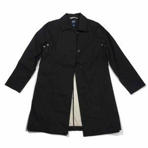 Gap Mens Rain Coat Black Solid Long Sleeve